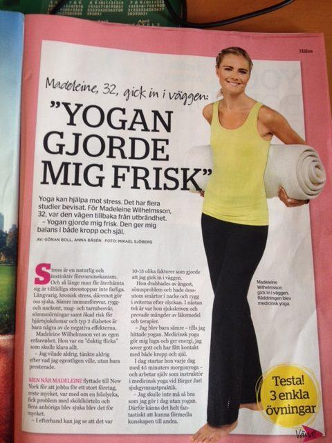 YogaManas Madeleine Wilhelmsson visar MediYoga i Expressen