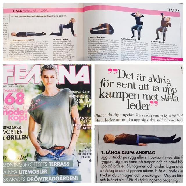 YogaManas Madeleine Wilhelmsson visar MediYoga i Femina